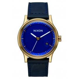 Station Leather Gold Navy