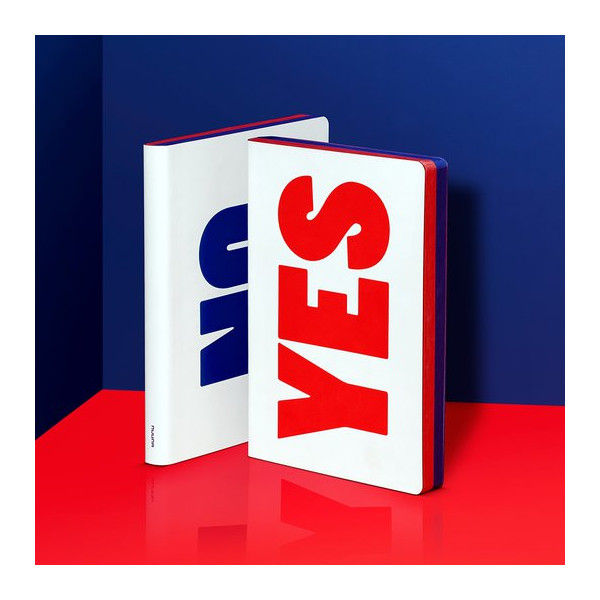 CARNET GRAPHIC S YES NO RED B