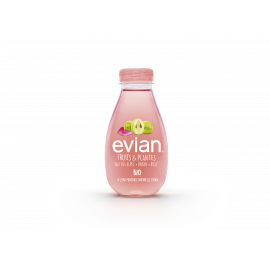 Evian Fruits et Plantes Raisin Rose