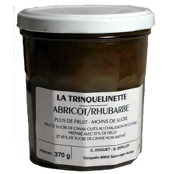Confiture Abricot Rhubarbe 370g
