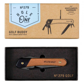 Golf Multi-Tool Wood & Titanium Finish.