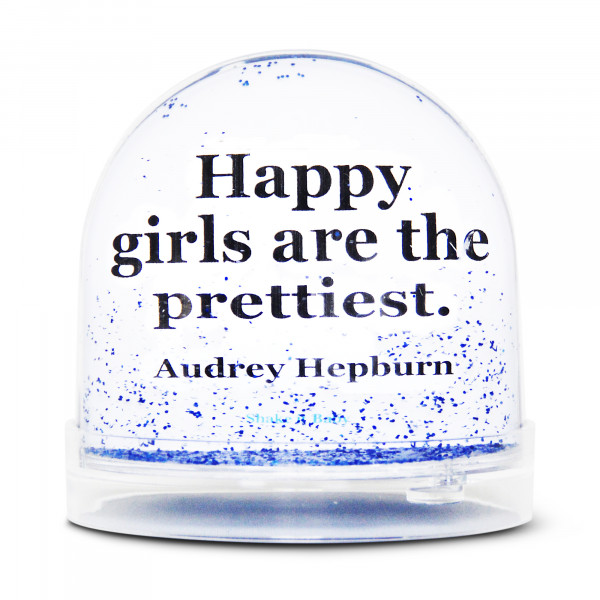BOULE A NEIGE HAPPY GIRLS ARE THE PRETTIEST