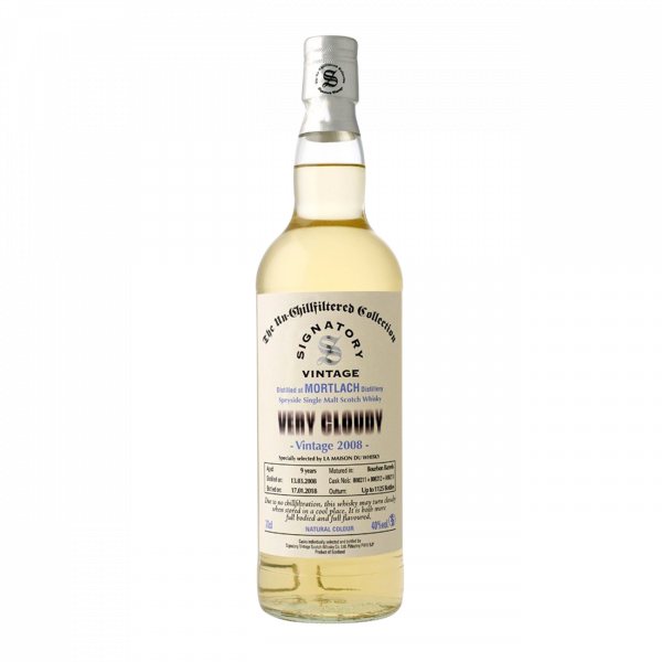 Whisky Mortlach 2008 Very Cloudy Signatory Vintage 40% - 70cl