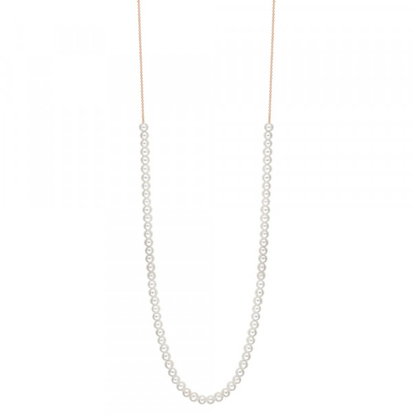 NECKLACE MARIA PEARLS WHITE