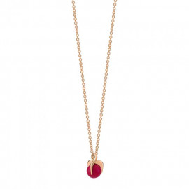 Maria Necklace - Coral bead on chain