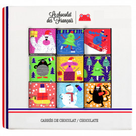 Christmas box of 9 squares - Bio