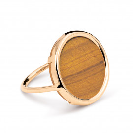 Ever Tiger Eye Disc Ring