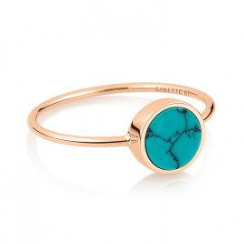 Bague - Mini Ever Turquoise Disc Ring