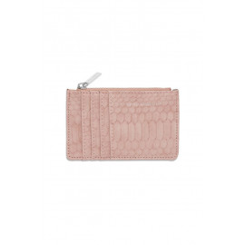 Rectangle Card Purse Blush Snake-effect