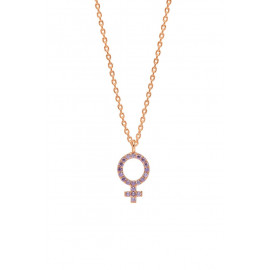 Venus Necklace Rose Gold Plated