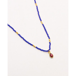 Little India Necklace - Red agate