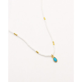 Collier Little India - Agate rouge