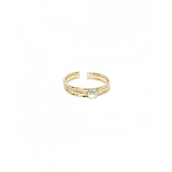 Embossed Mother of Pearl Ring