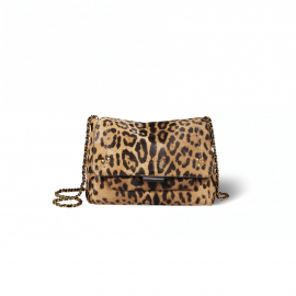 Lulu M Bag Leopard Print Pony Leather