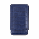 Robusto case 3 cigars blue in caiman