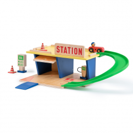 Wooden gas station