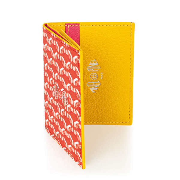 Pipo 2c Poppy Coated Canvas Card Holder
