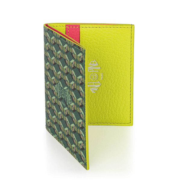 Pipo 4c Emerald Coated Canvas Card Holder