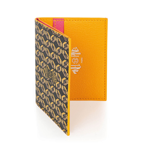 Pipo 4c Mocaccino Coated Canvas Card Holder