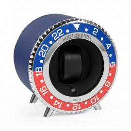 Remontoir Twin GMT rouge et bleu