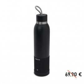 Black water bottle and insulated enclosure