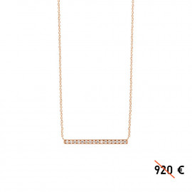 Medellin - 18k rose gold and diamond necklace