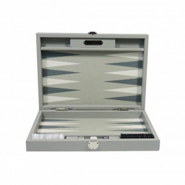 Backgammon Basile gris anthracite