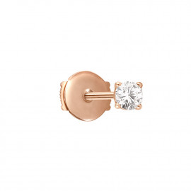 Valentine Puce Rose Gold Diamond Earring