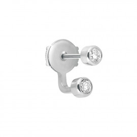 Mademoiselle Else white gold diamond earring