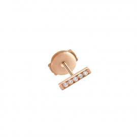 Medellin 18k rose gold and diamonds earring