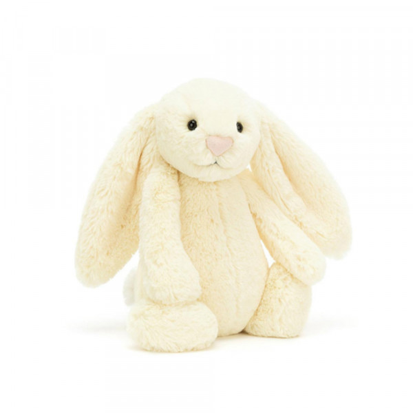 Peluche Lapin Timide Jaune - Taille S