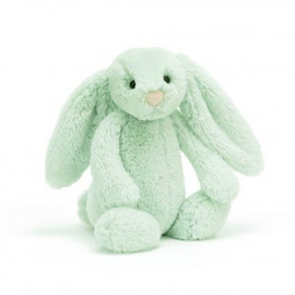 Peluche Lapin Timide Vert - Taille S