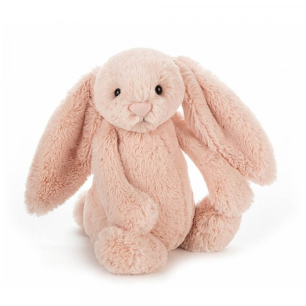 Peluche Lapin Timide Rose - Taille S