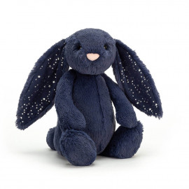 Peluche Lapin Timide Bleu nuit - Taille M