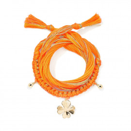 Bracelet Honolulu Charm Trèfle - Orange