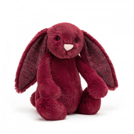Peluche Lapin Timide Cassis - Taille S