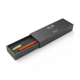 Stylo BIC Cristal en cuir - Orange