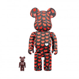 Bearbrick Black Heart 400% & 100%