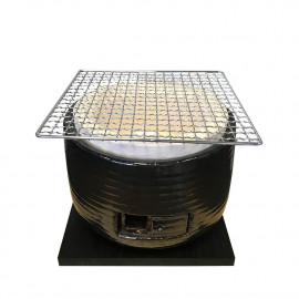 """Mikawa"""" round Japanese table barbecue"""