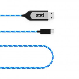 Blue illuminated charging cable - 1 meter