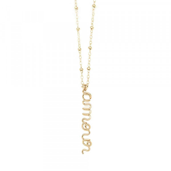 """Collier pendentif """"Amour"""" - Or"""