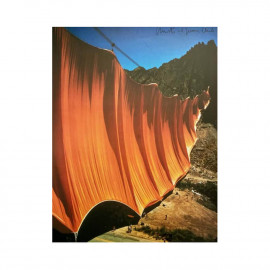 """Poster signed by Christo """"Valley Curtain"""" - Vertical"""