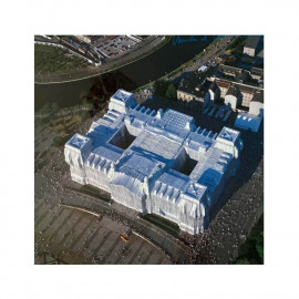 """Poster signed by Christo """"Reichstag Wrapped"""" - Birdview Square"""