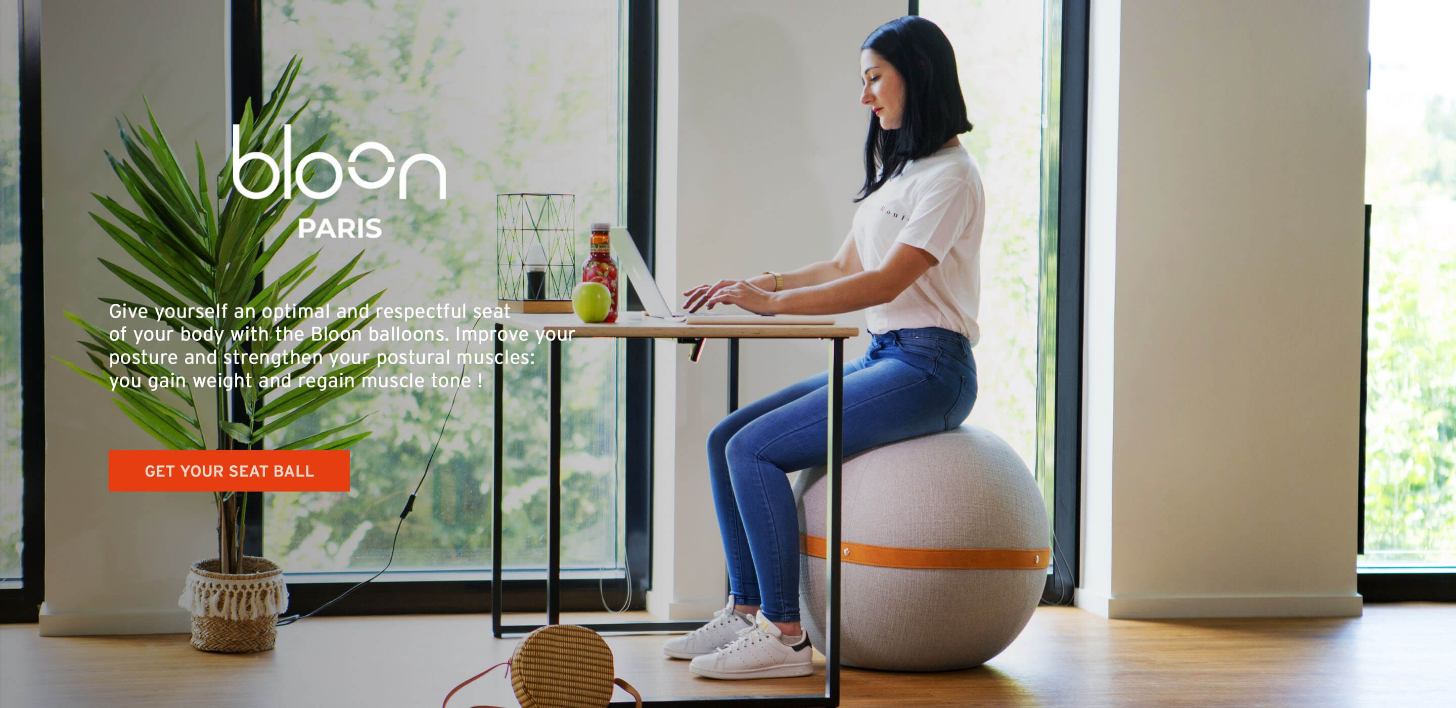 Bloon Paris: strengthen your back and correct your posture with a high quality seat ball
