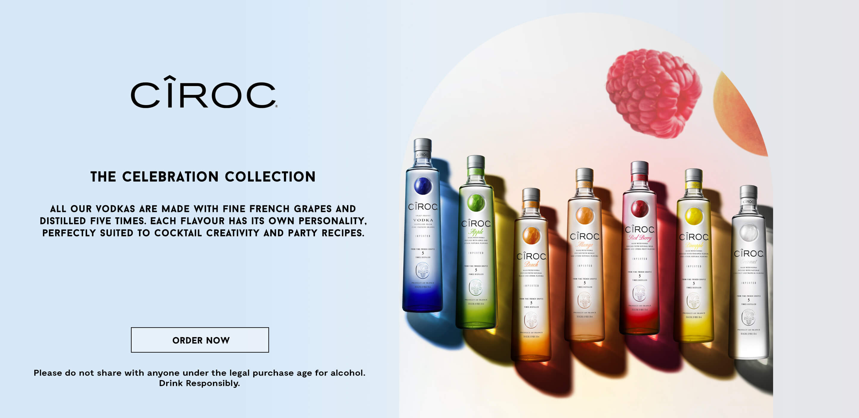 Banner of the new Cîroc vodka collection