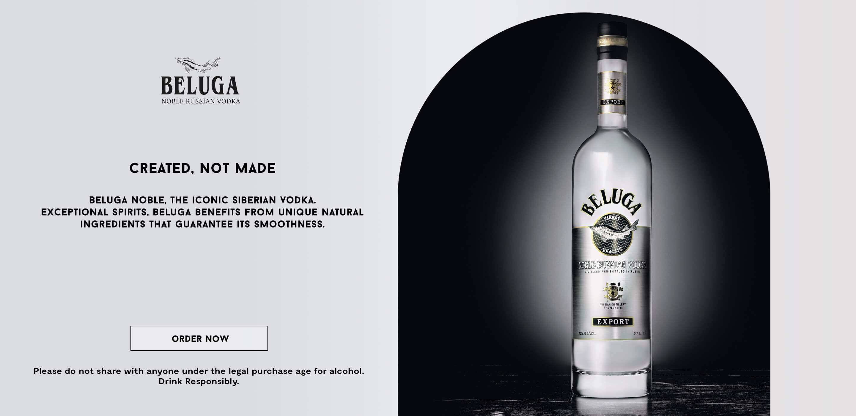 Banner of the new Beluga vodka collection